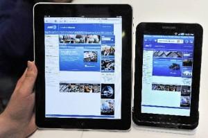 iPad y Samsung Galaxy Tab