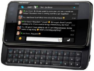 Nokia N900 con teclado deslizante